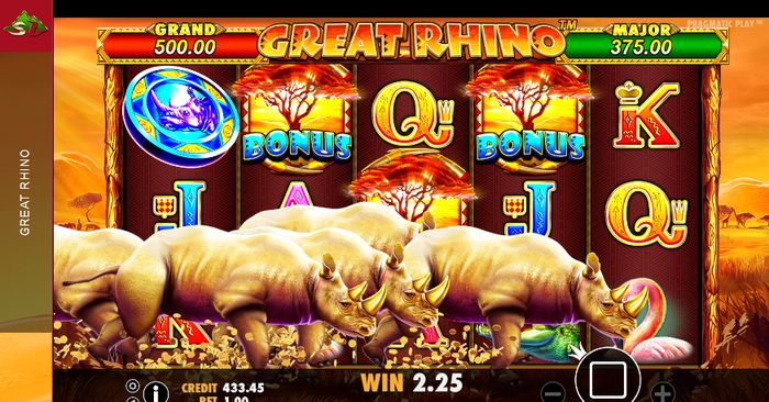 Great Rhino Slot: crash of rhinos