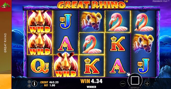 Great Rhino Slot: wild rhinos
