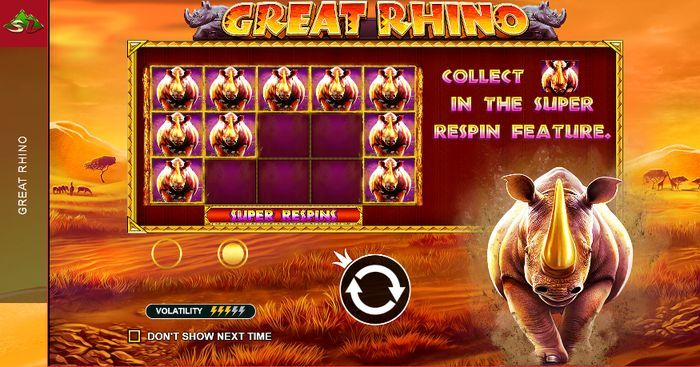 Great Rhino slots: jackpots