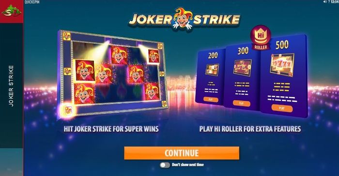 additional features Joker Strike