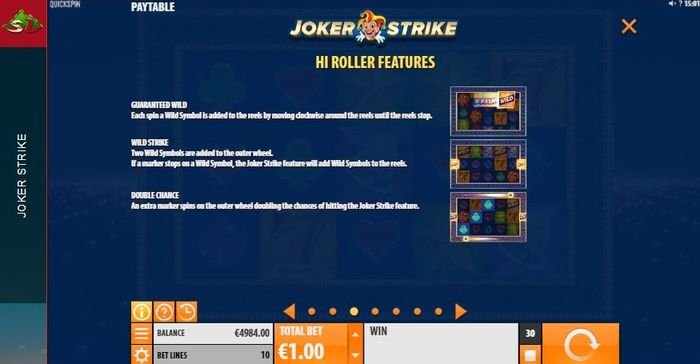 Hi Roller in Joker Strike slot