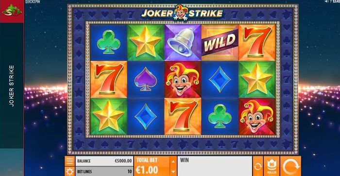 Joker Strike slot: playing field