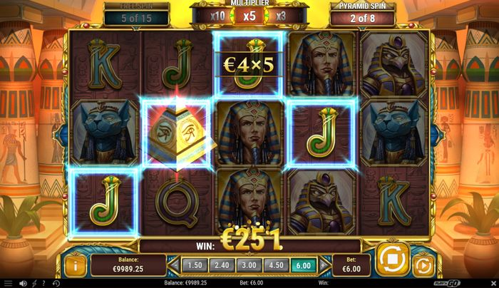 Legacy of Egypt slot: free spin combo