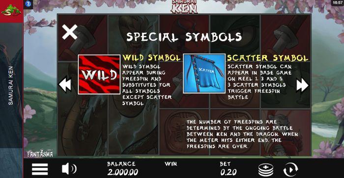 Samurai Ken Slot: special symbols
