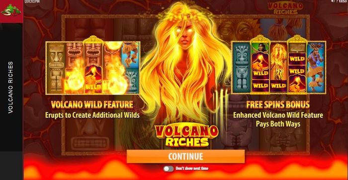 Volcano Riches slot with Pele