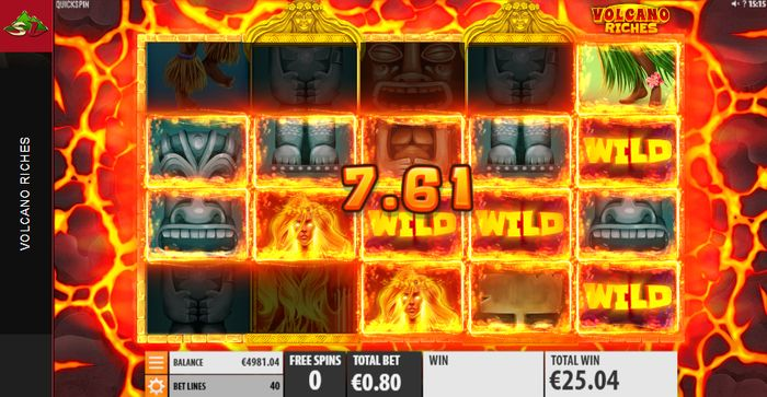 Volcano Riches slot wild combo