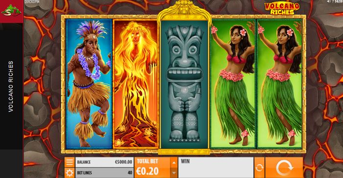 Volcano Riches slot: play field