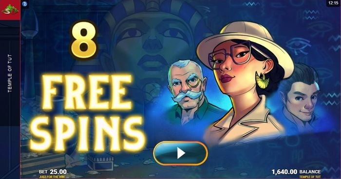 Free Spins in Temple of Tut slot