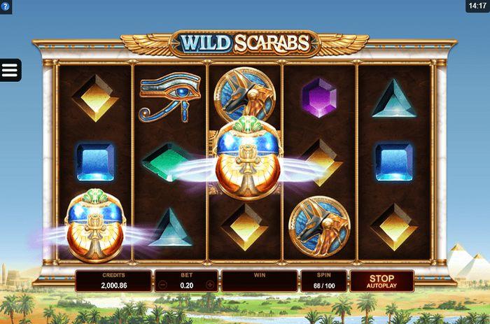 Бонусная функция Wild Deal в игровом автомате Wild Scarabs